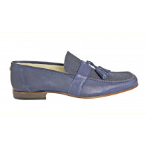 Suede Loafer, Navy